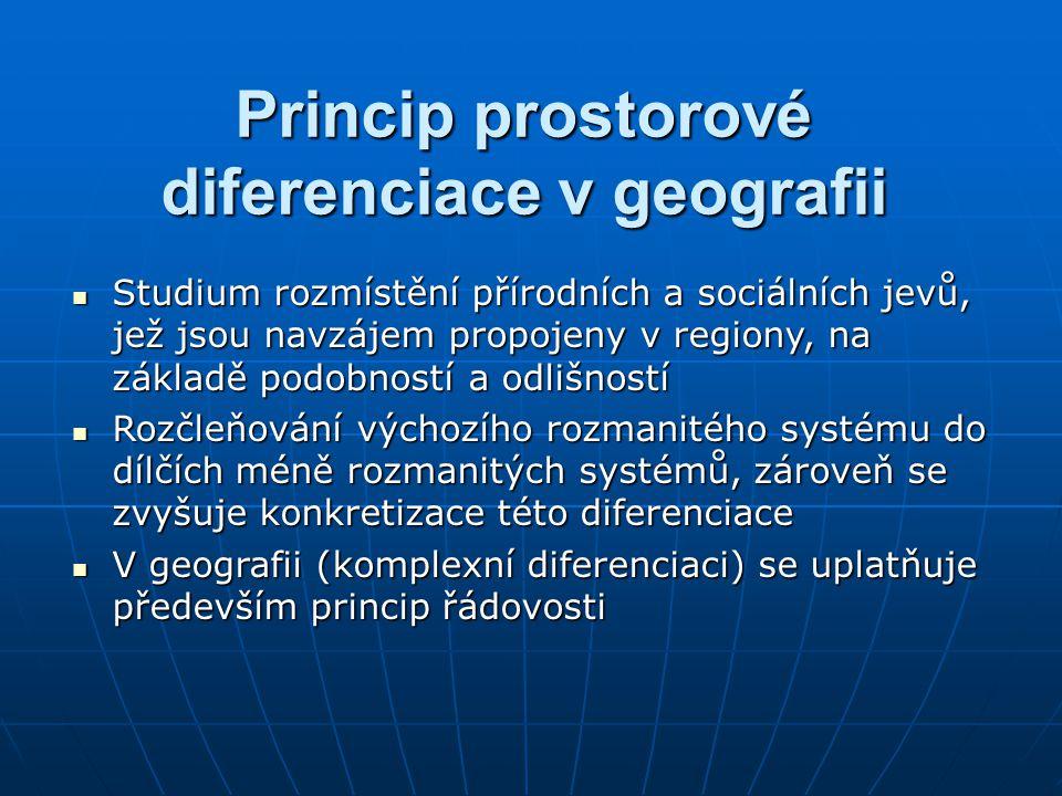 Princip prostorové diferenciace v geografii