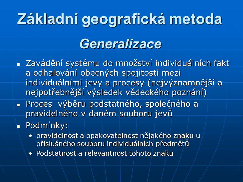 Základní geografická metoda