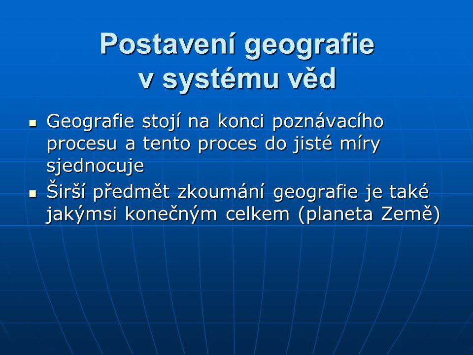 Postavení geografie v systému věd