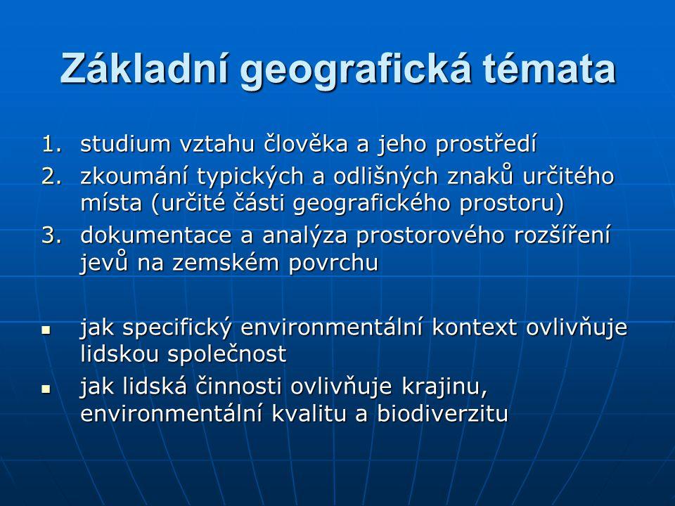 Základní geografická témata
