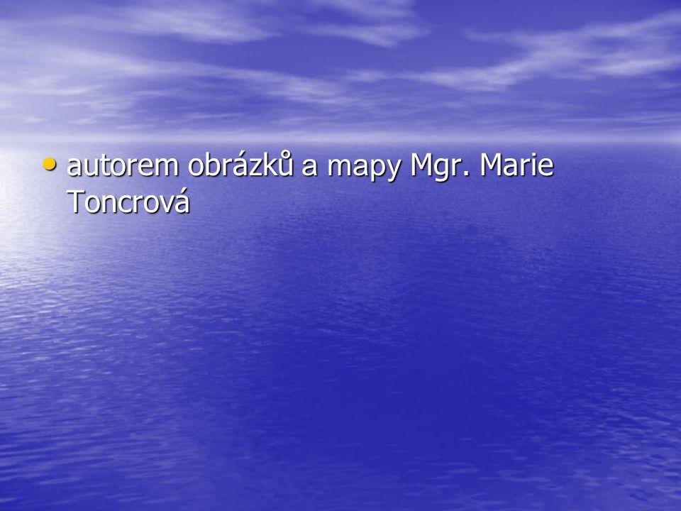 autorem obrázků a mapy Mgr. Marie Toncrová