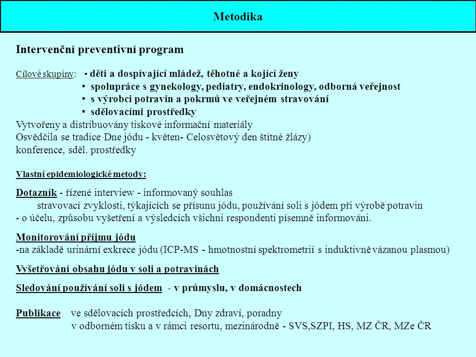 Intervenční preventivní program