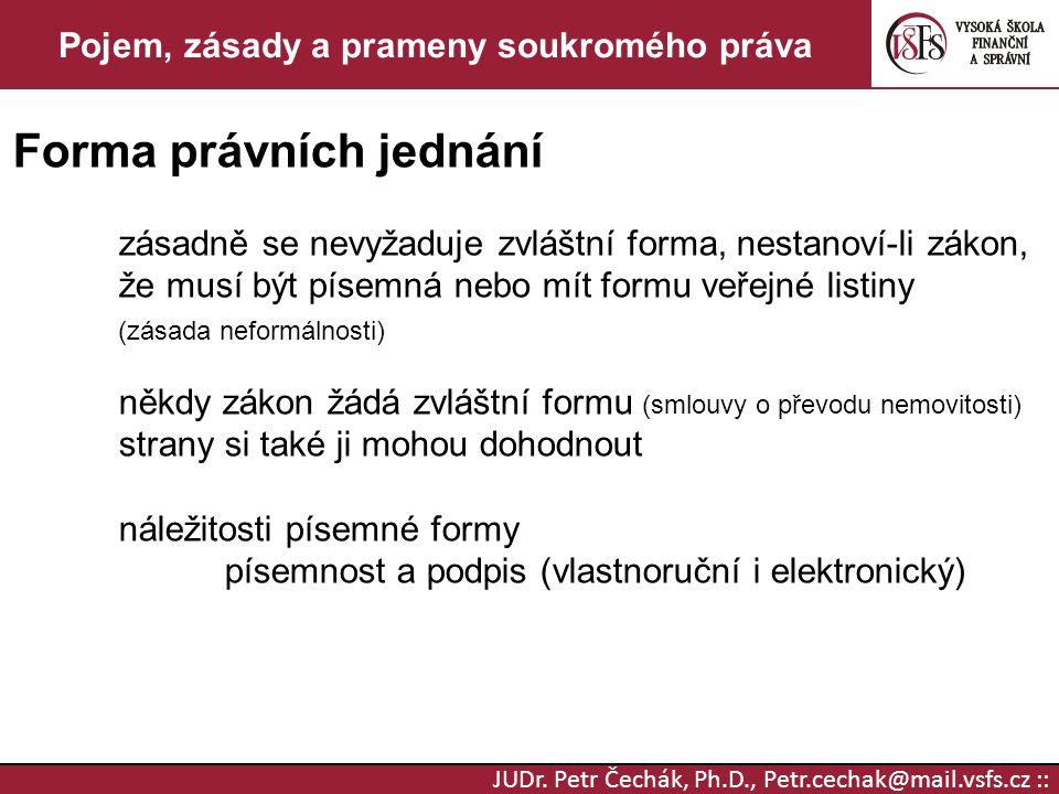 Pojem, zásady a prameny soukromého práva