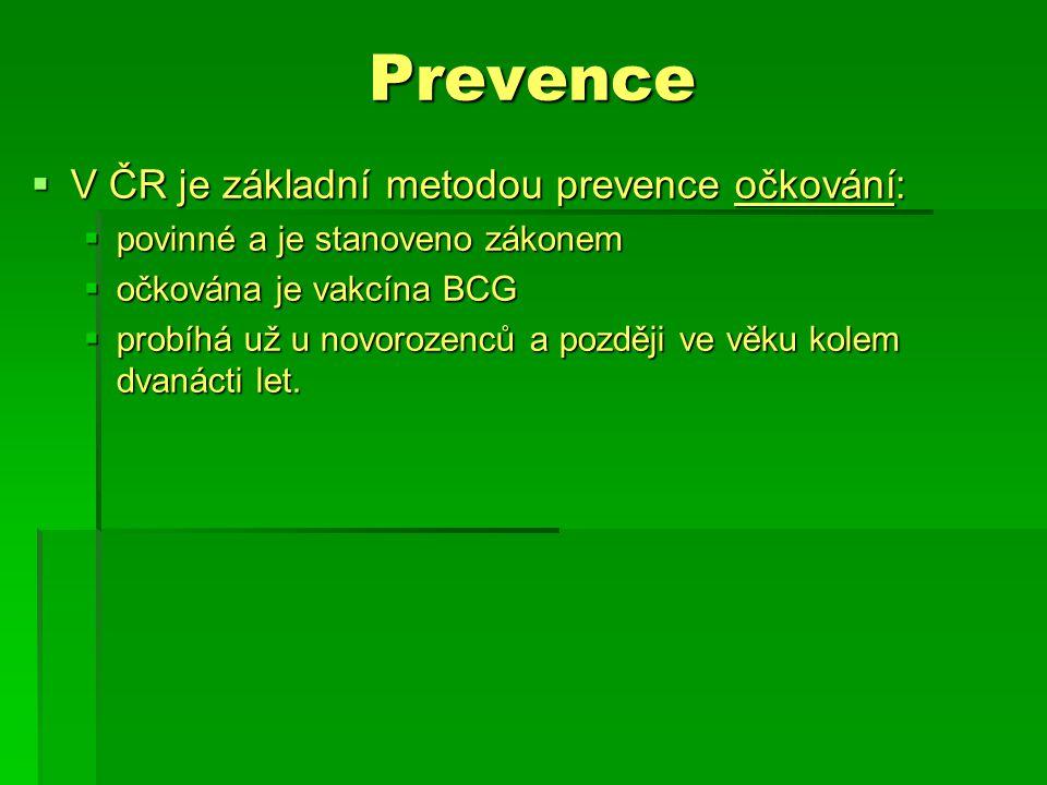 Prevence V ČR je základní metodou prevence očkování: