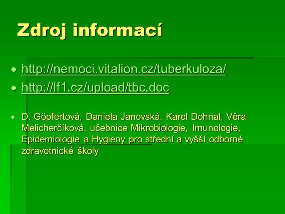 Zdroj informací http://nemoci.vitalion.cz/tuberkuloza/