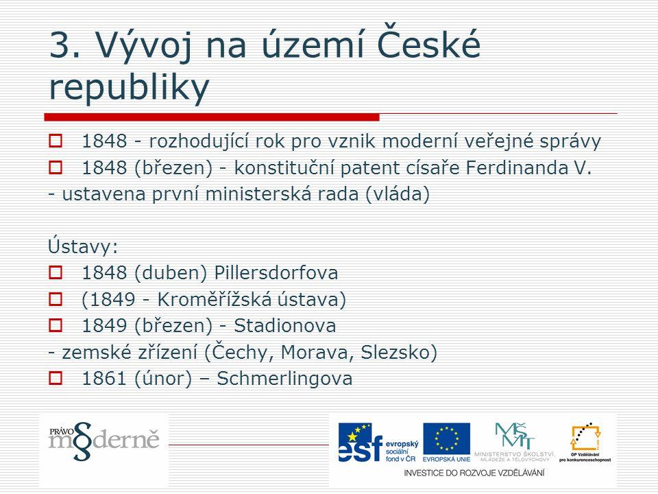 3. Vývoj na území České republiky