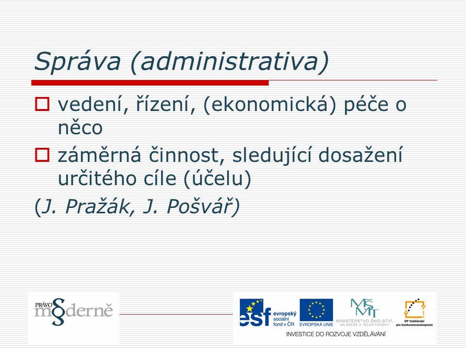 Správa (administrativa)