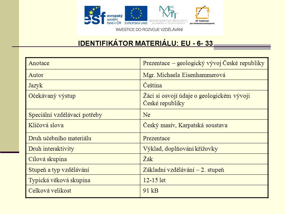IDENTIFIKÁTOR MATERIÁLU: EU - 6- 33