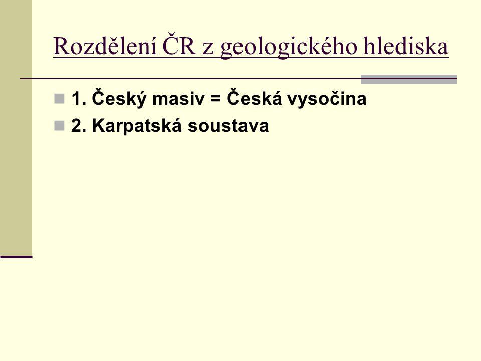 Rozdělení ČR z geologického hlediska