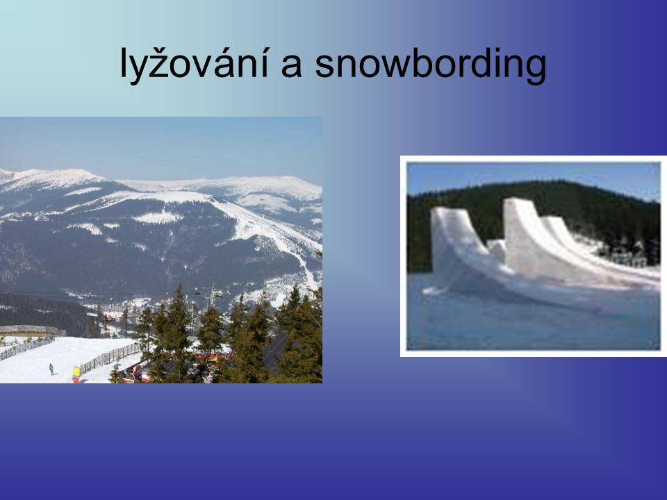 lyžování a snowbording