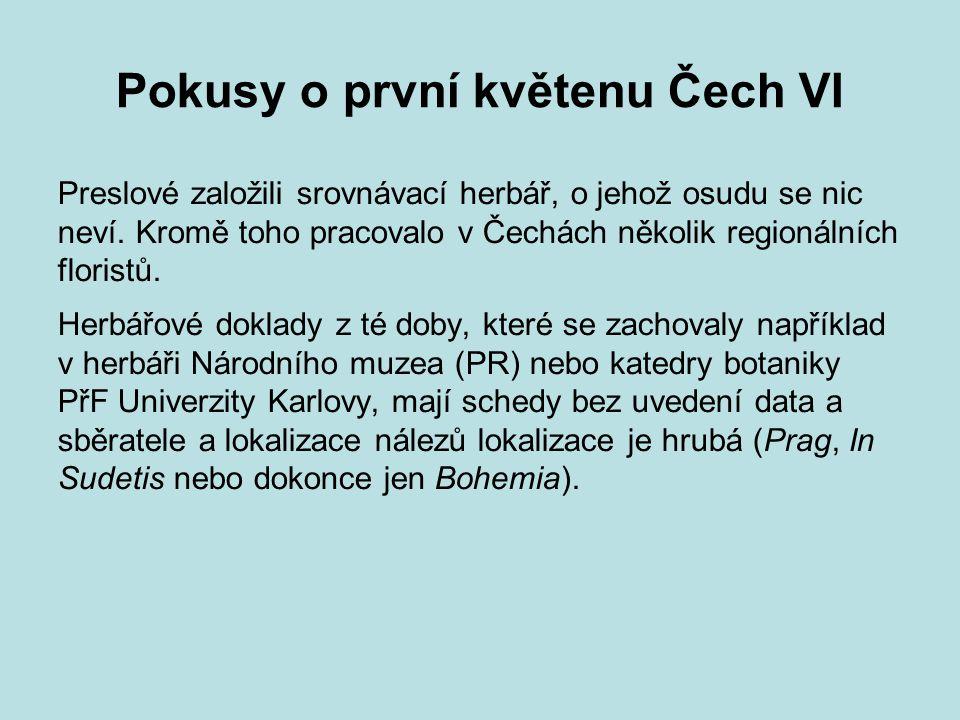 Pokusy o první květenu Čech VI