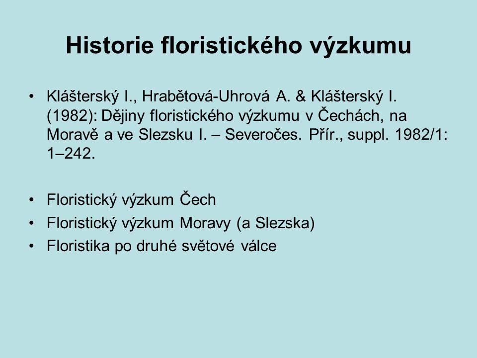 Historie floristického výzkumu