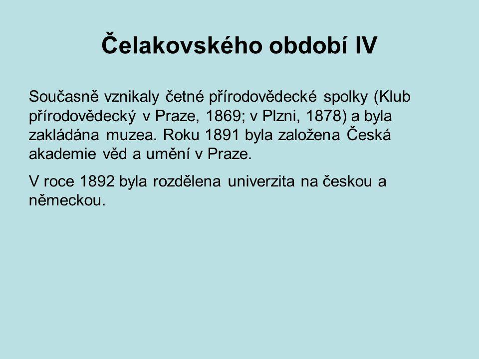 Čelakovského období IV