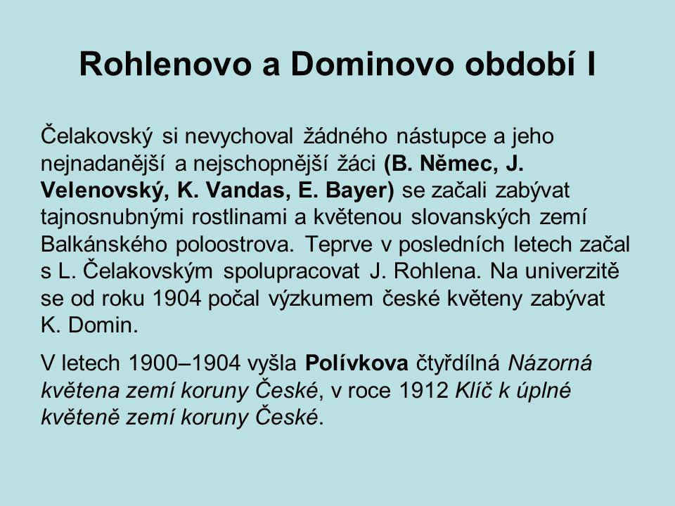 Rohlenovo a Dominovo období I