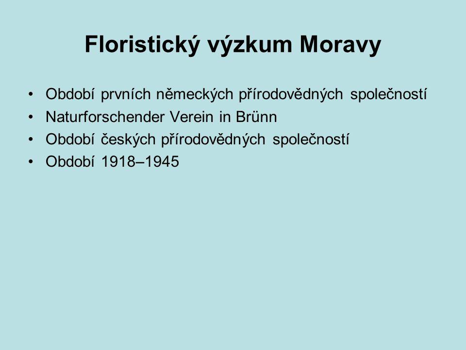 Floristický výzkum Moravy