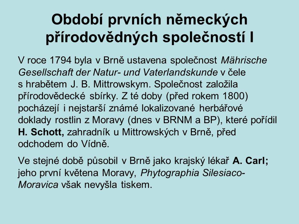 Období prvních německých přírodovědných společností I