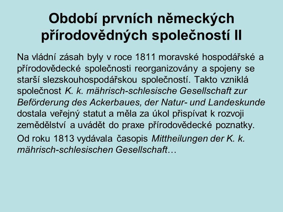 Období prvních německých přírodovědných společností II