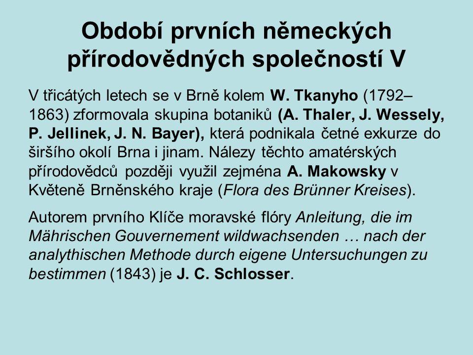 Období prvních německých přírodovědných společností V