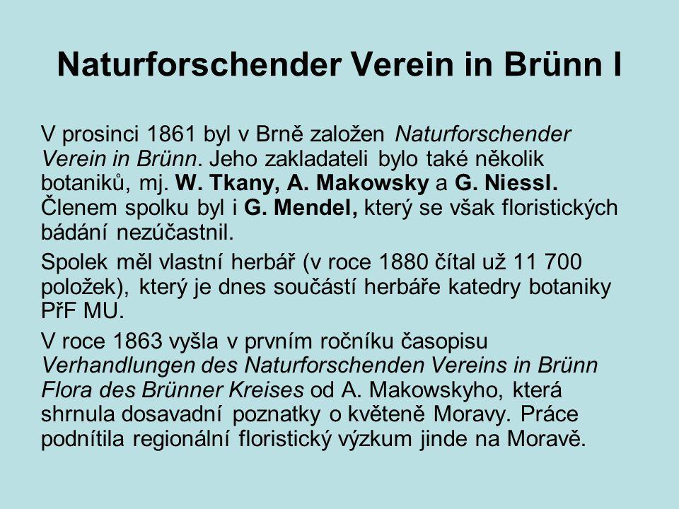 Naturforschender Verein in Brünn I