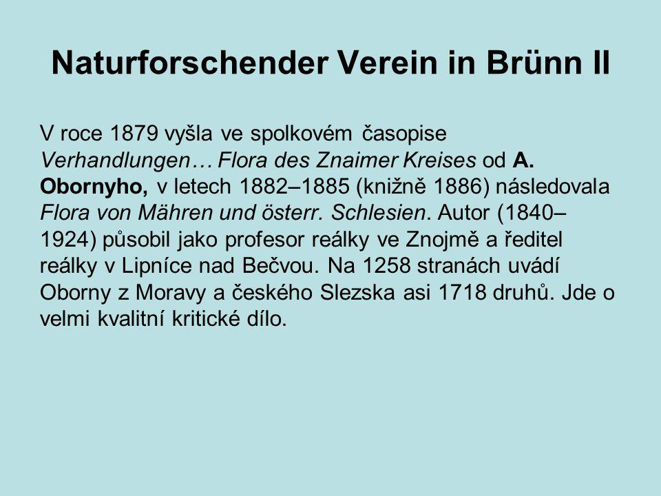 Naturforschender Verein in Brünn II