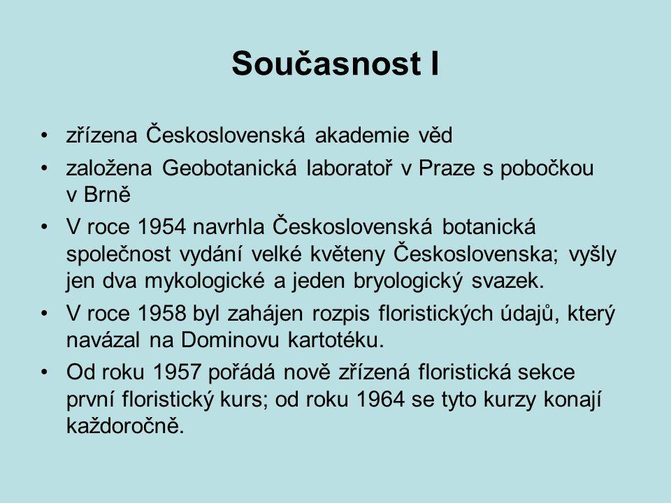 Současnost I zřízena Československá akademie věd