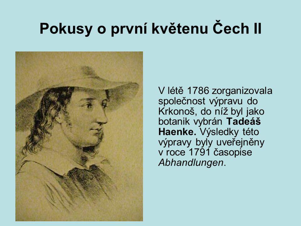 Pokusy o první květenu Čech II