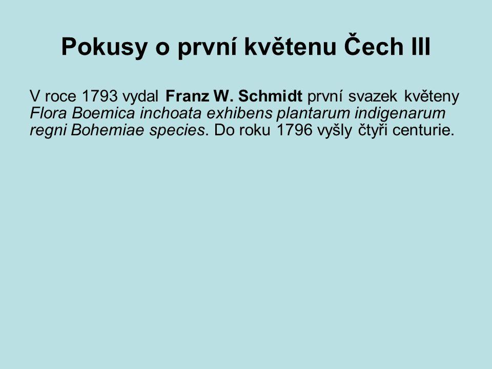 Pokusy o první květenu Čech III