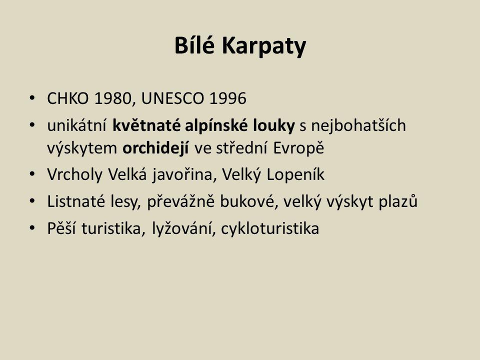Bílé Karpaty CHKO 1980, UNESCO 1996