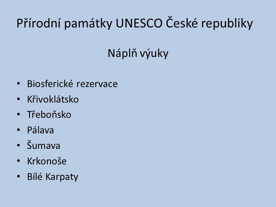 Přírodní památky UNESCO České republiky