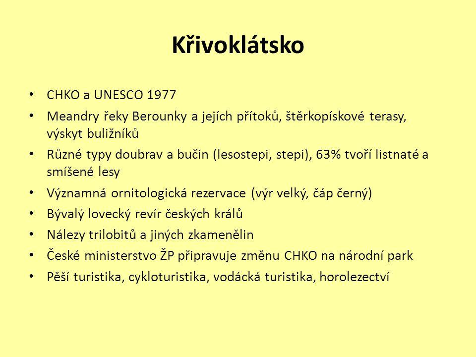 Křivoklátsko CHKO a UNESCO 1977