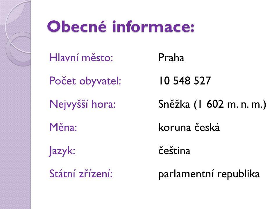 Obecné informace:
