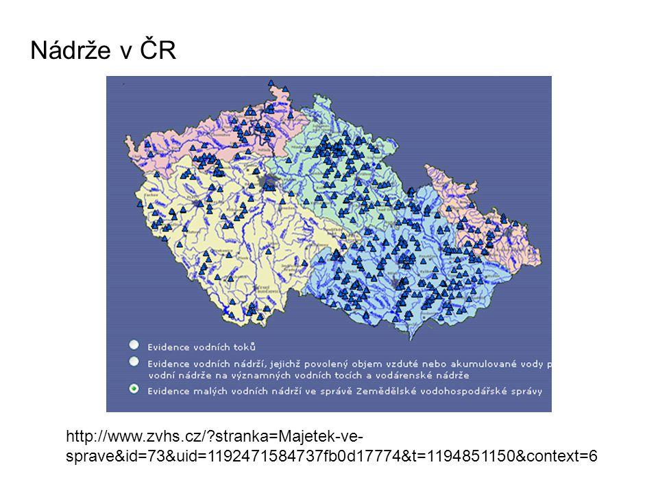 Nádrže v ČR http://www.zvhs.cz/ stranka=Majetek-ve-sprave&id=73&uid=1192471584737fb0d17774&t=1194851150&context=6.