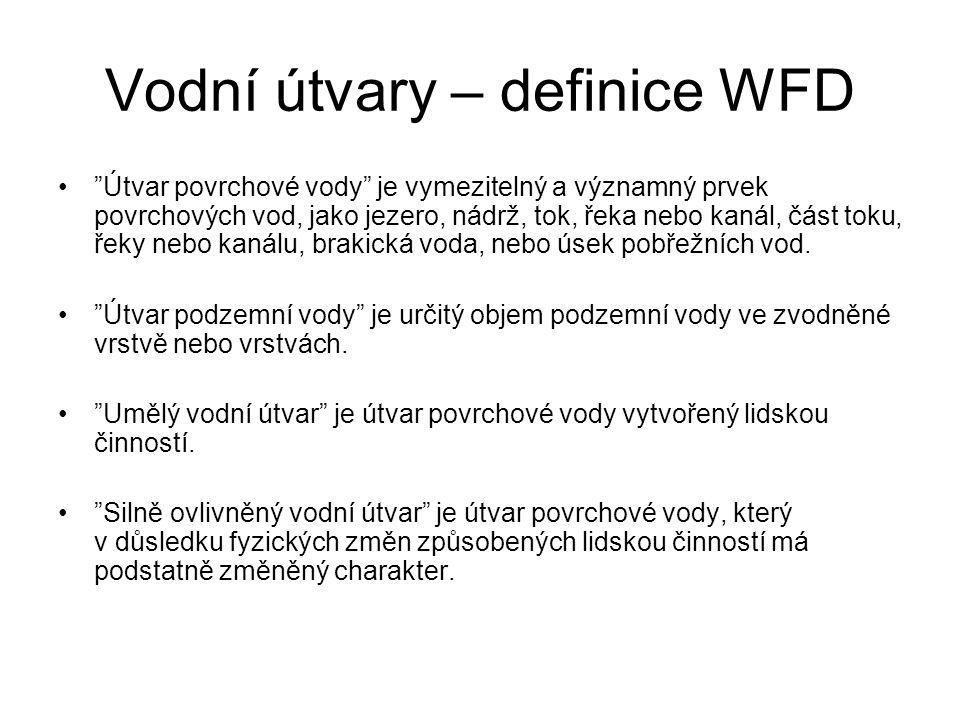 Vodní útvary – definice WFD