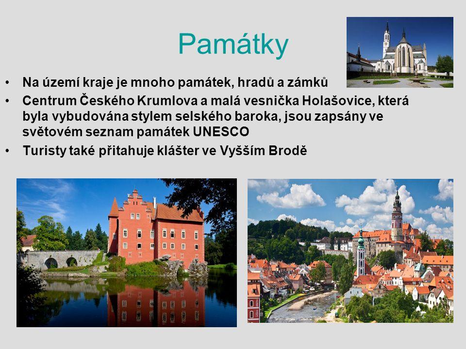Památky Na území kraje je mnoho památek, hradů a zámků