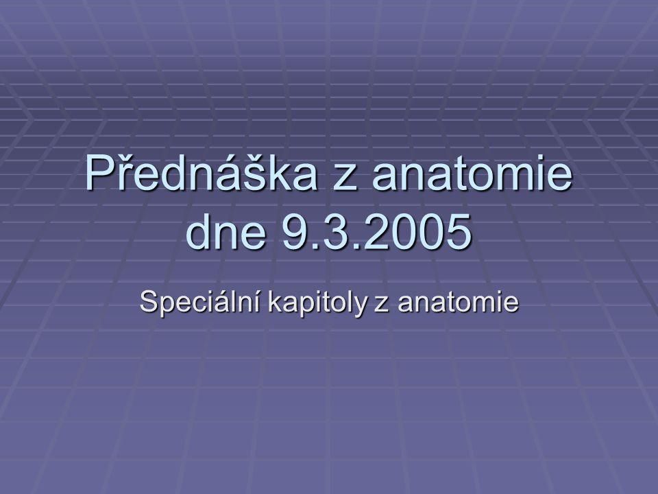 Přednáška z anatomie dne 9.3.2005