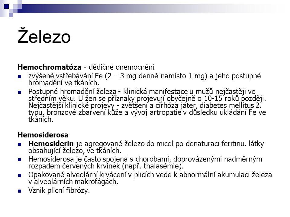 Železo Hemochromatóza - dědičné onemocnění