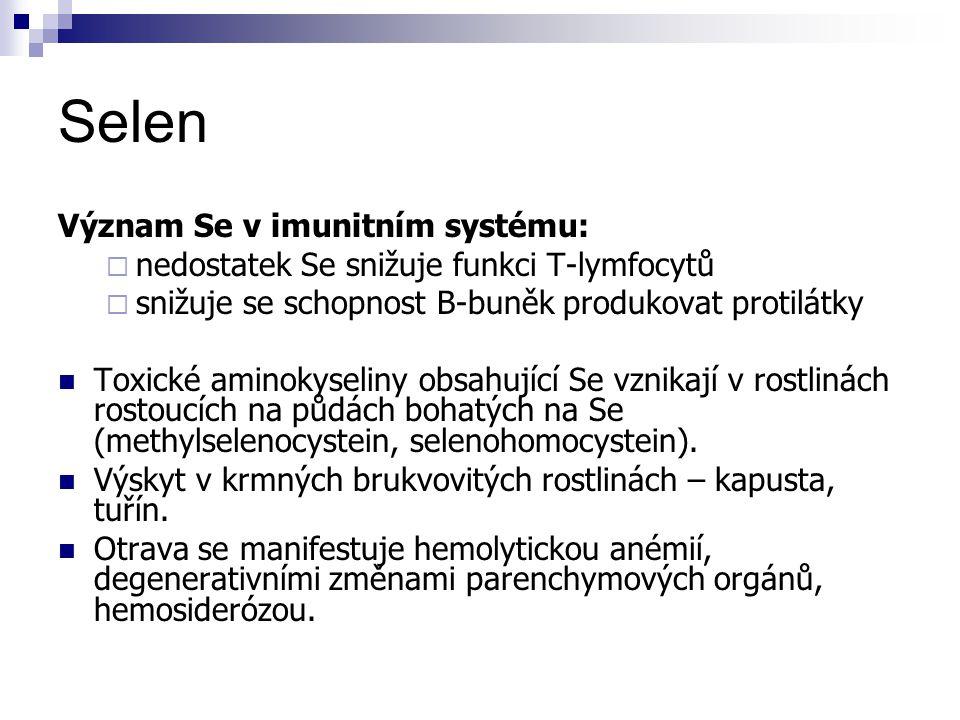 Selen Význam Se v imunitním systému: