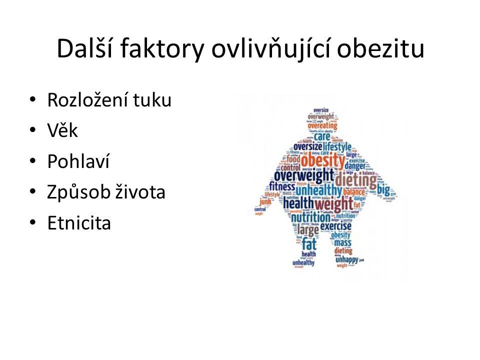 Další faktory ovlivňující obezitu