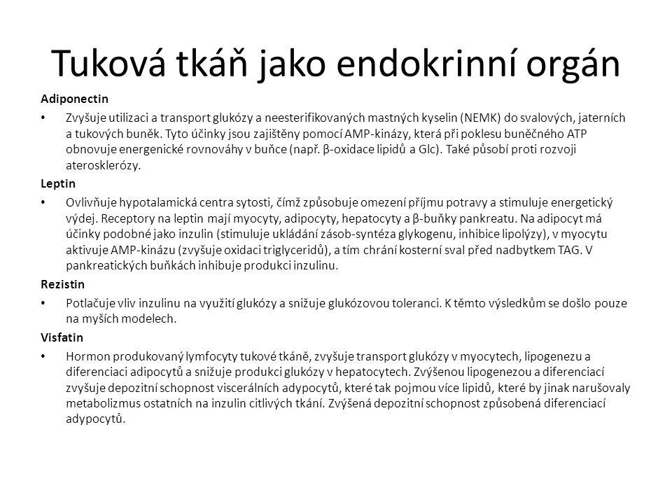 Tuková tkáň jako endokrinní orgán
