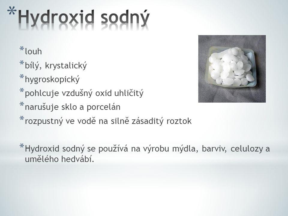 Hydroxid sodný louh bílý, krystalický hygroskopický