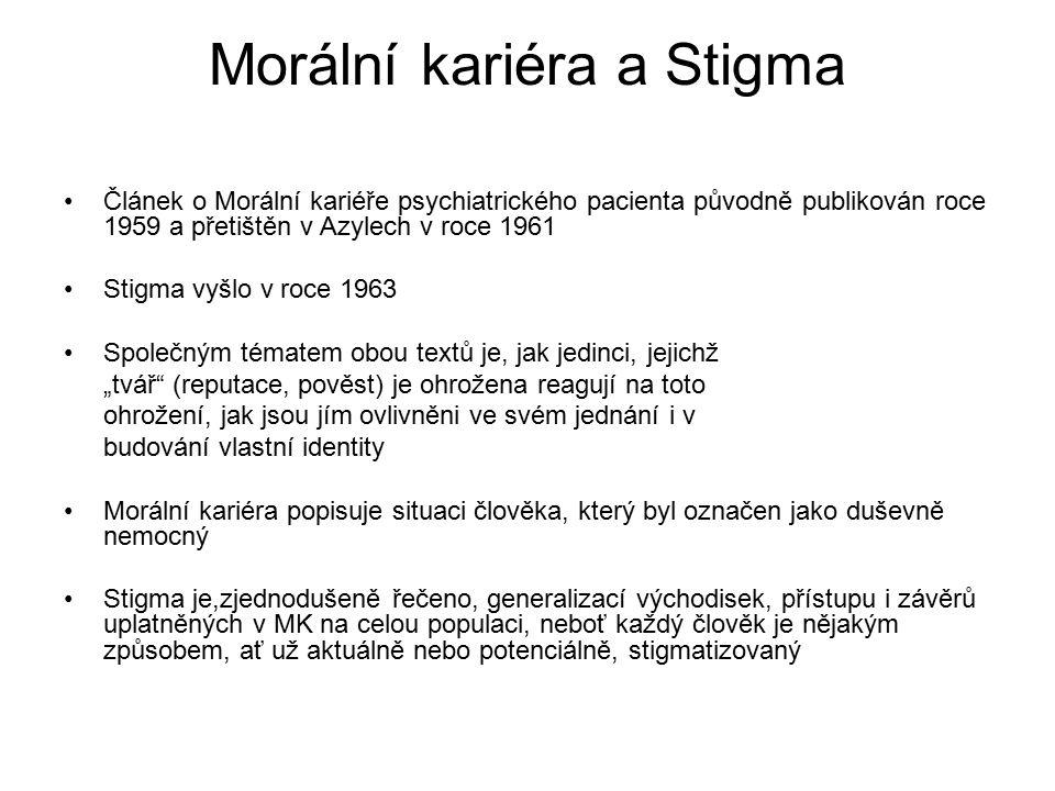 Morální kariéra a Stigma
