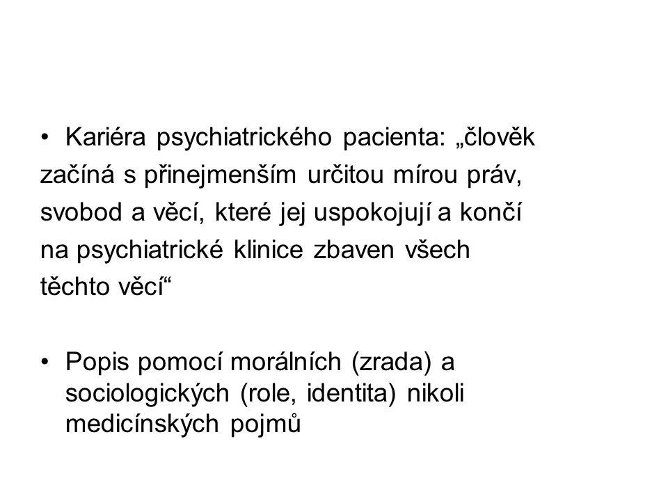 """Kariéra psychiatrického pacienta: """"člověk"""