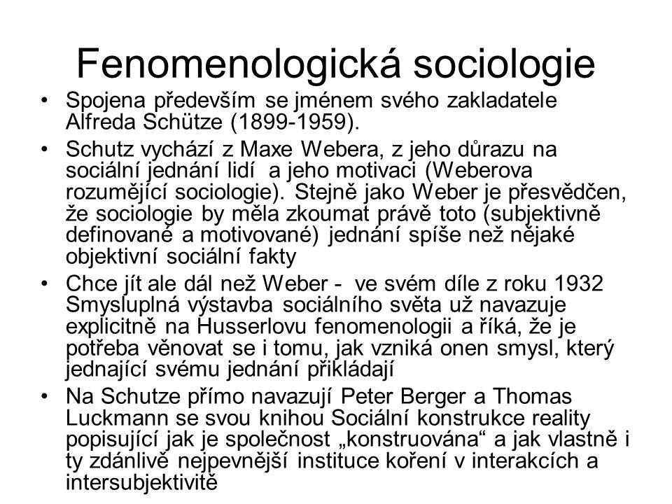 Fenomenologická sociologie