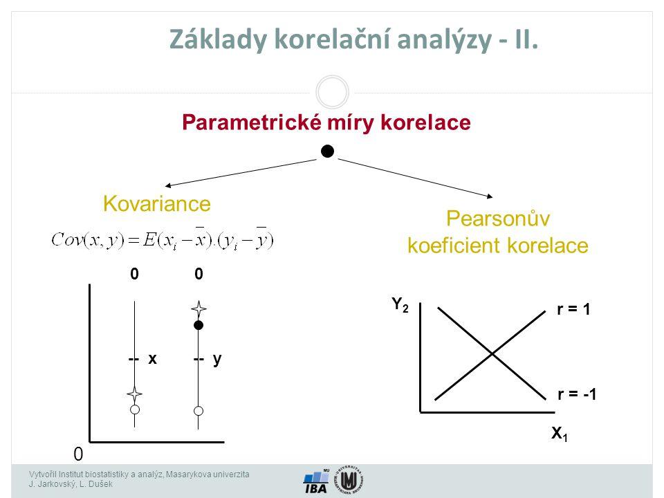 Základy korelační analýzy - II.