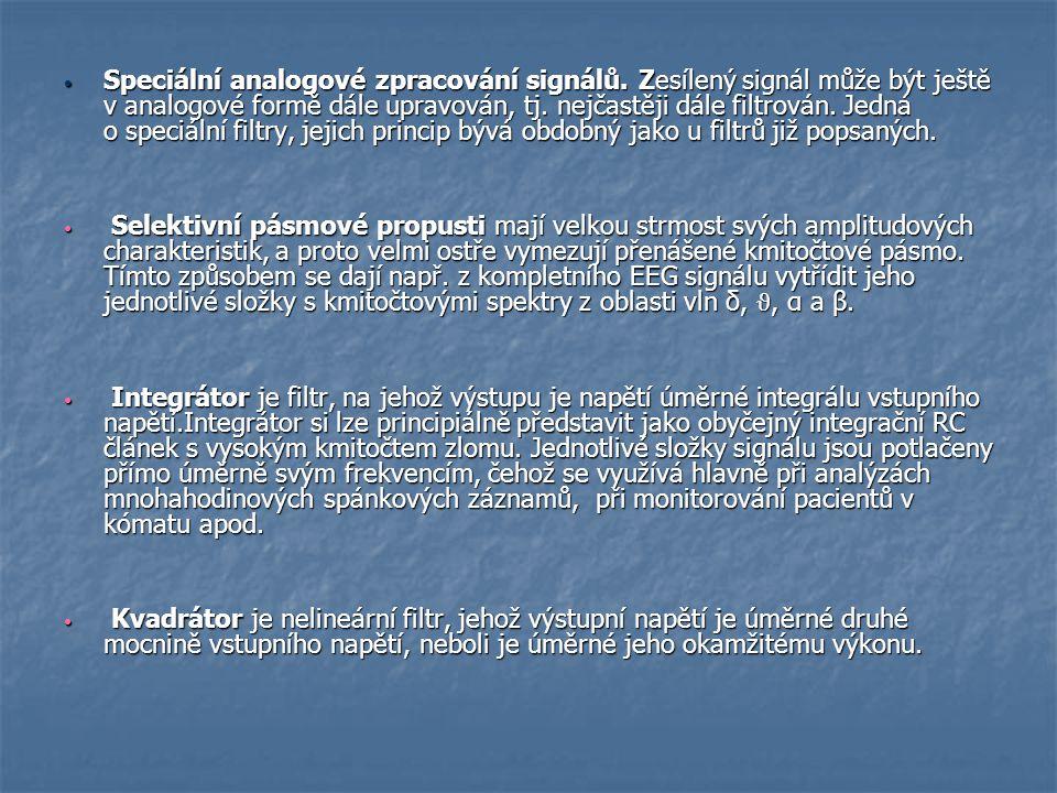 Speciální analogové zpracování signálů