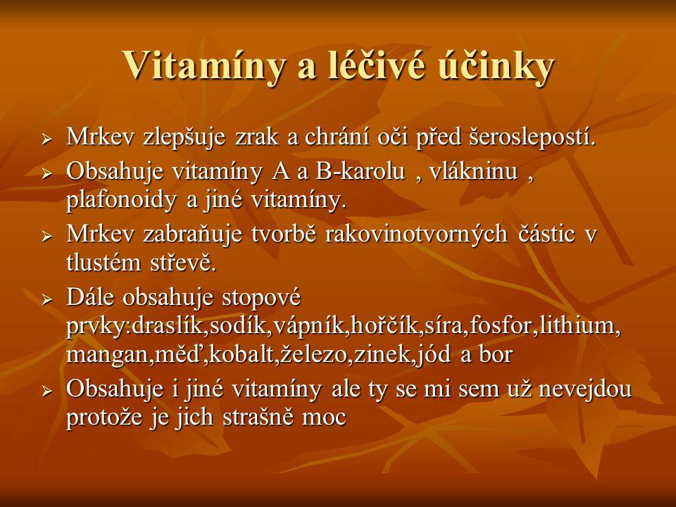 Vitamíny a léčivé účinky