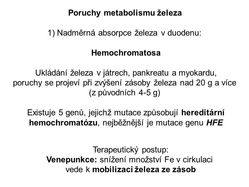 Poruchy metabolismu železa