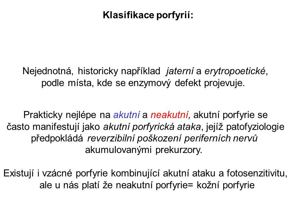 Klasifikace porfyrií: