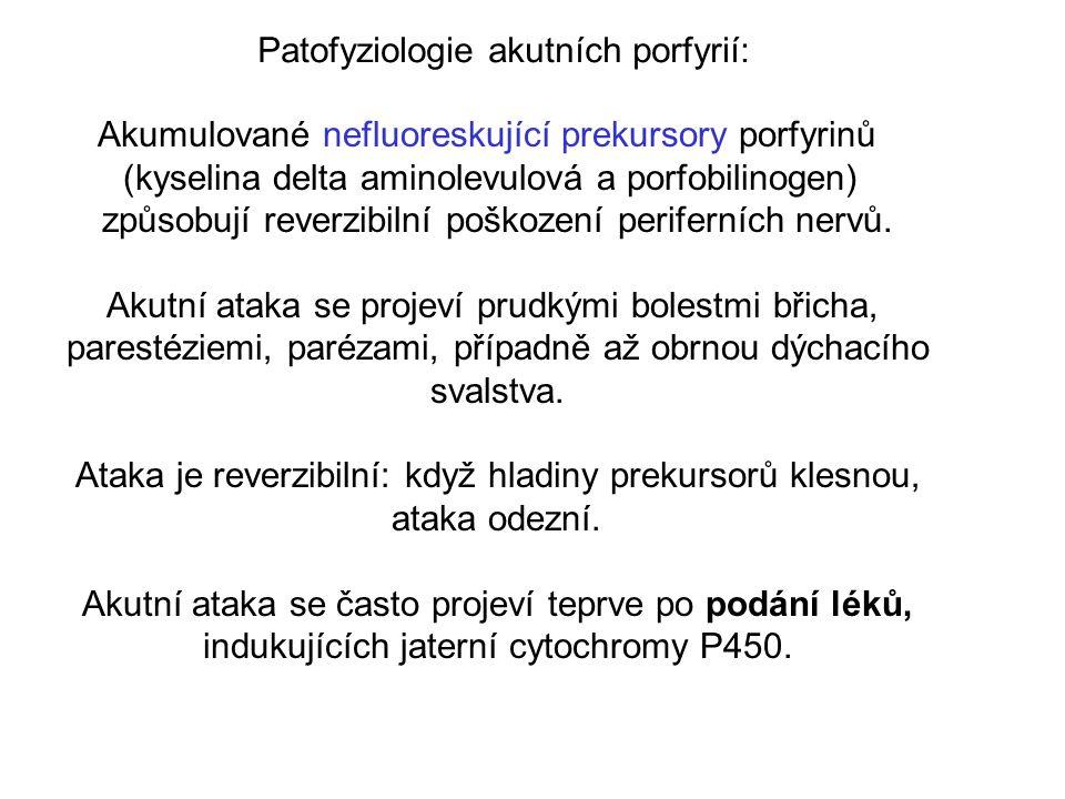 Patofyziologie akutních porfyrií: