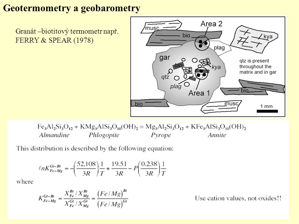 Geotermometry a geobarometry